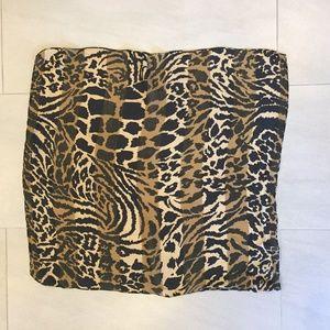 Leopard Giraffe Zebra Multi-Animal Square Scarf